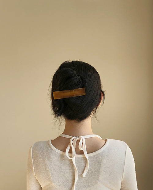 caramel hair pin
