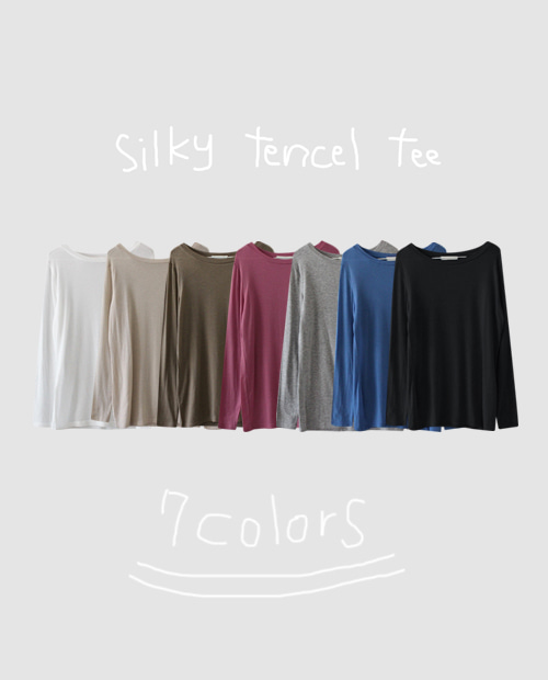 silky tencel tee / 7colors