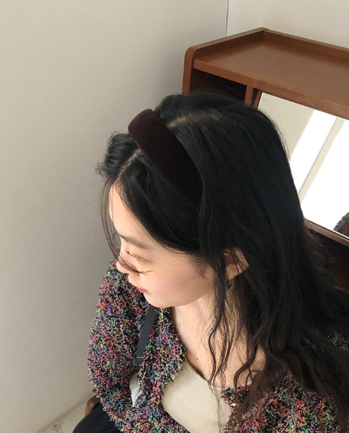 velvet hair band / 2color