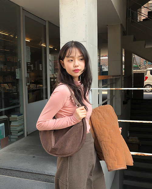 suede half moon bag / 3color