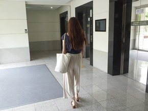 ribbon linen pants