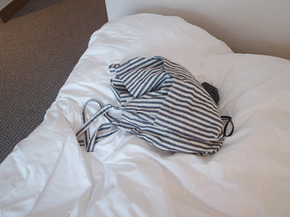 stripe linen bag