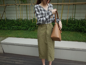 cotton H skirt