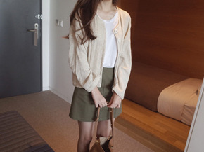 cardigan jacket : beige