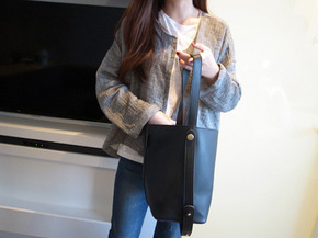 cardigan jacket :  gray
