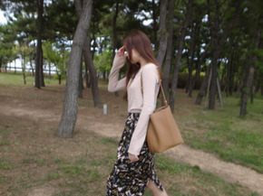 cotton flower skirt