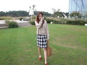 pocket knit top : beige