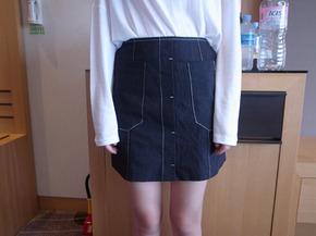 square mini skirt  : black