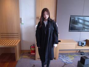 basic trench coat : black