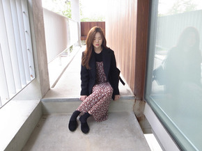 wool jacket coat : black