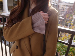 wool jacket coat : camel