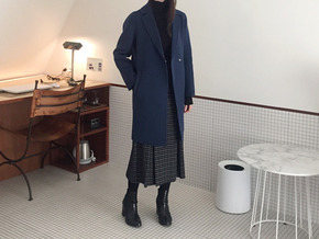 simple handmade coat : blue