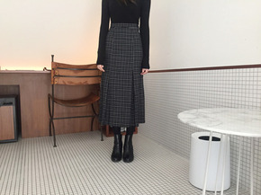 curtain check skirt