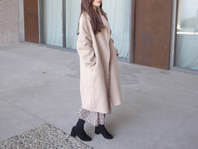 over handmade coat : beige