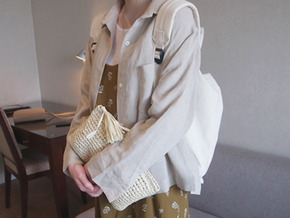 linen shirts and jacket : beige