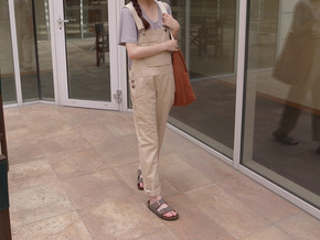 summer cotton overall pants