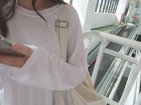 natural sleeve tee : white