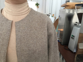 slim turtle-neck top