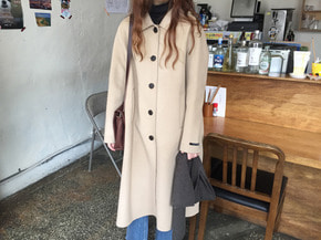 single handmade coat : beige