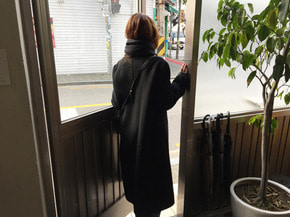 single handmade coat : black