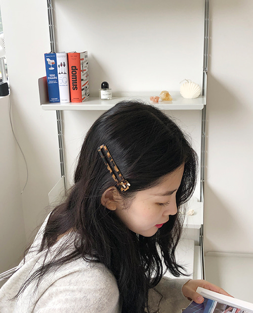 easy leopard hair pin : set