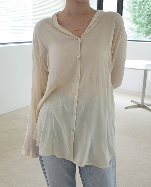 lucy open blouse / 2colors