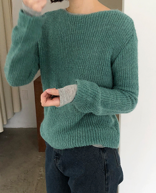lucy round knit : green