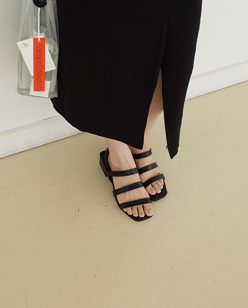 grace sandal : black