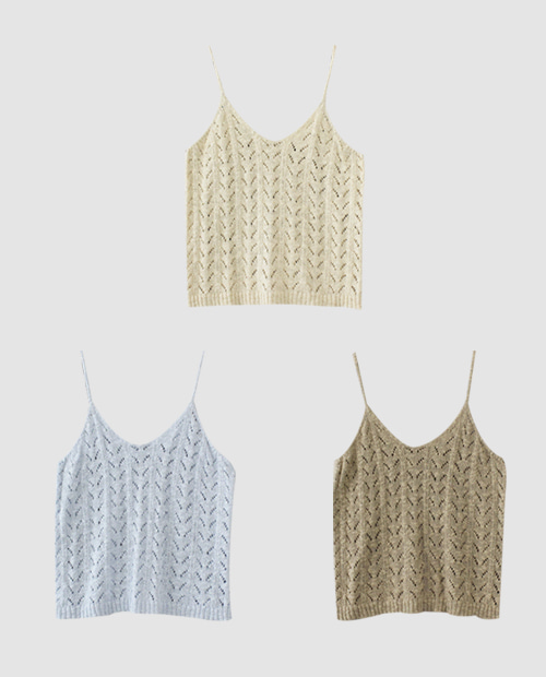 deal sleeveless / 3color