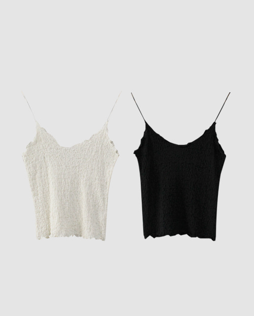 wrinkle sleeveless / 2color