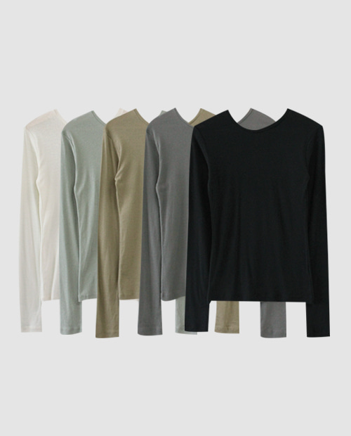 polcon basic tee / 5color