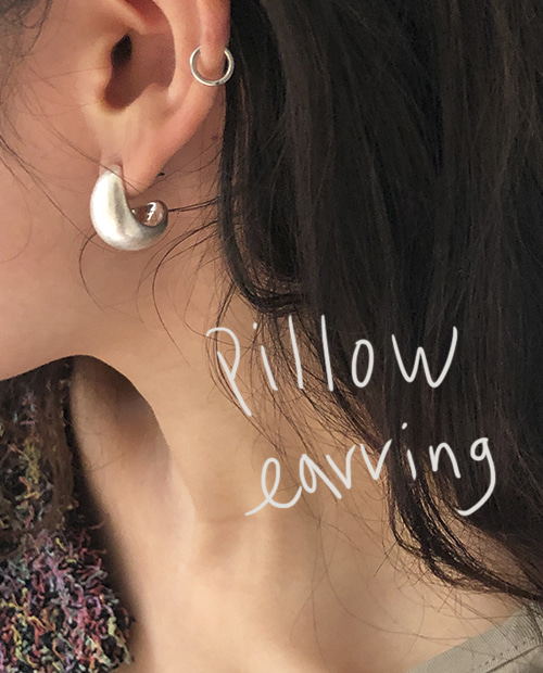pillow earring : silver