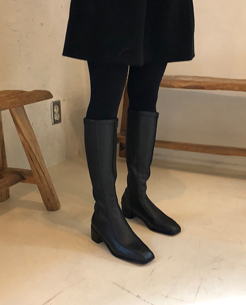 line long boots / 2color
